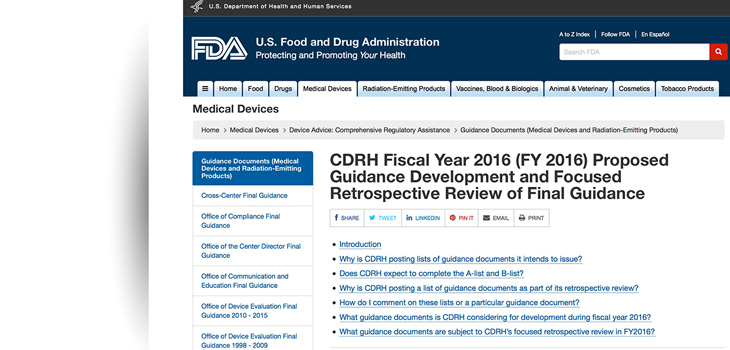 FDA Releases Medical Device Guidance for 2019 | Orthopedics